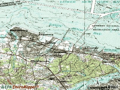 Belford topographic map