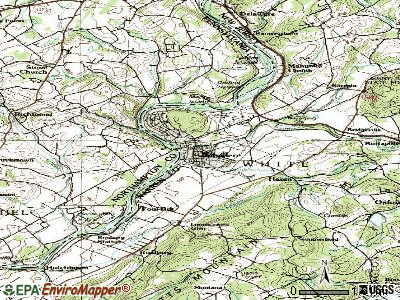 Belvidere topographic map
