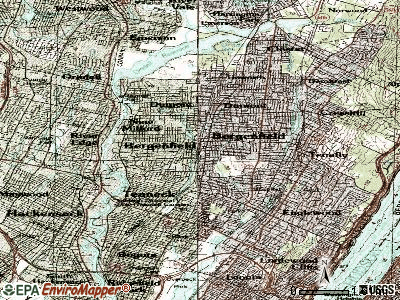 Bergenfield topographic map