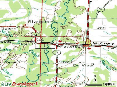 Patterson topographic map