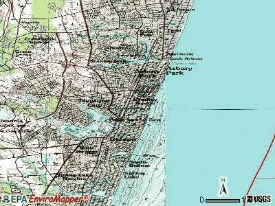 Bradley Beach topographic map