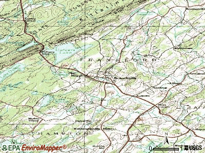 Branchville topographic map