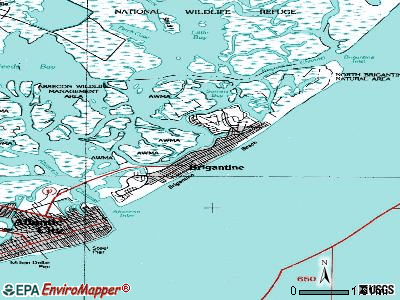 Brigantine topographic map