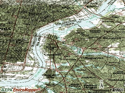 Camden topographic map