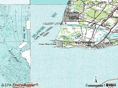 Cape May Point topographic map