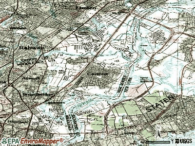 Carteret topographic map