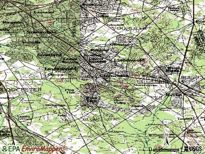 Clementon topographic map