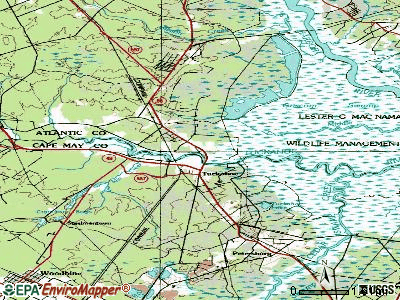 Corbin City topographic map