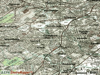 Cranford topographic map