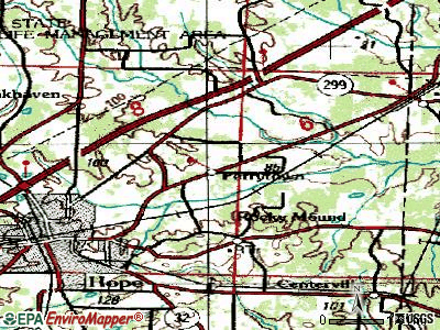 Perrytown topographic map