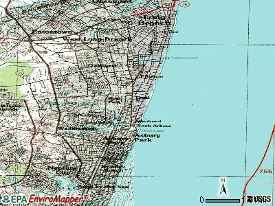 Deal topographic map