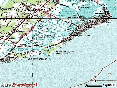 Diamond Beach topographic map
