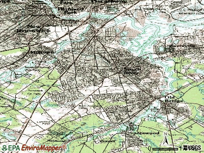 East Brunswick topographic map