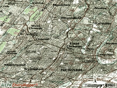 East Orange topographic map