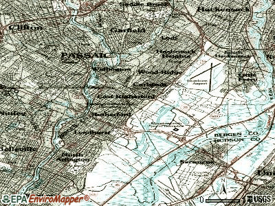 East Rutherford topographic map