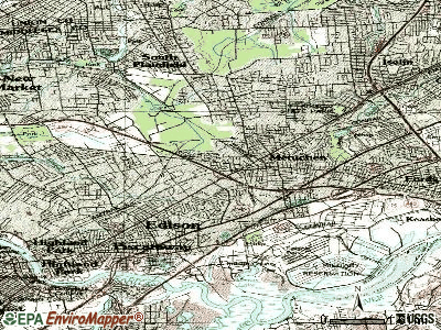 Edison topographic map