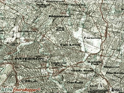 Fair Lawn topographic map