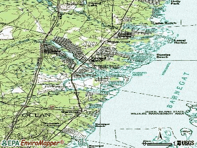 Forked River topographic map