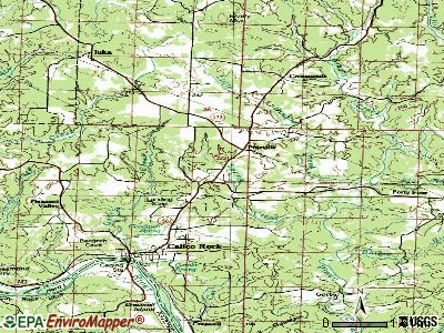 Pineville topographic map