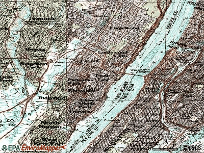 Fort Lee topographic map