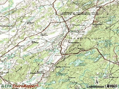 Franklin topographic map