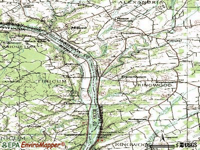 Frenchtown topographic map