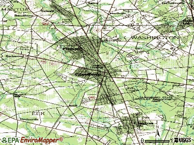 Gibbstown topographic map