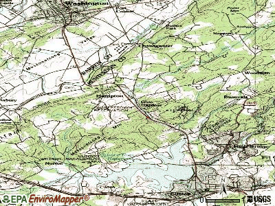 Glen Gardner topographic map