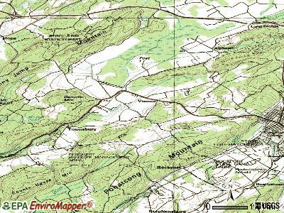 Great Meadows-Vienna topographic map