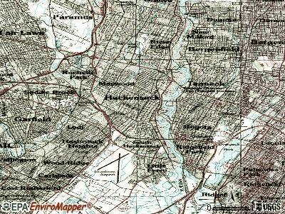 Hackensack topographic map