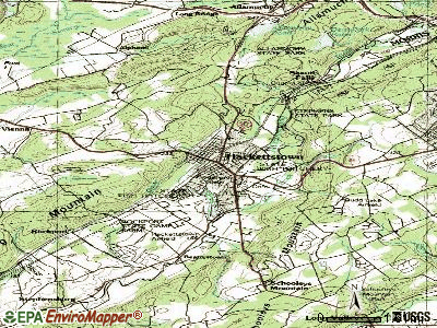 Hackettstown topographic map