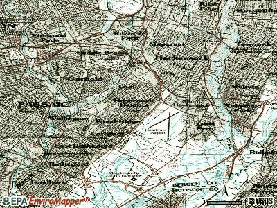 Hasbrouck Heights topographic map