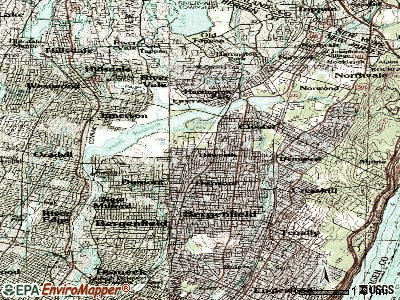 Haworth topographic map