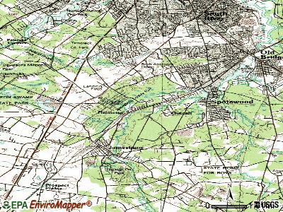 Helmetta topographic map