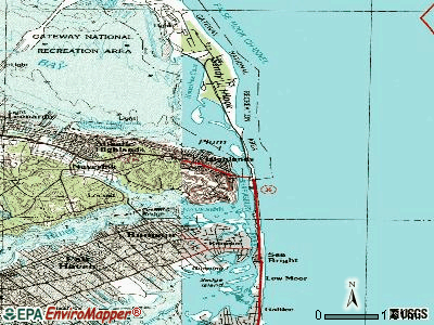 Highlands topographic map