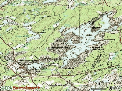 Hopatcong topographic map