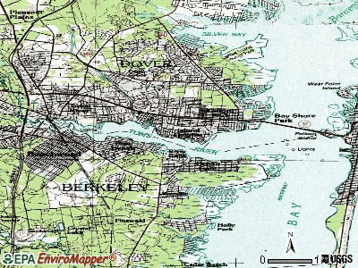 Island Heights topographic map
