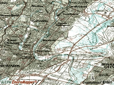 Kearny topographic map