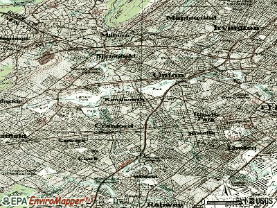 Kenilworth topographic map