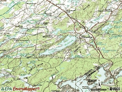 Lake Mohawk topographic map