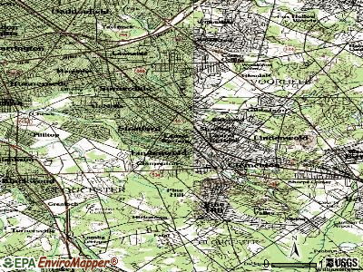 Laurel Springs topographic map