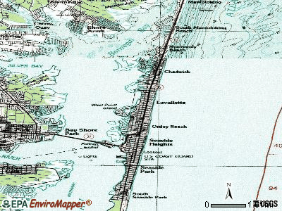 Lavallette topographic map