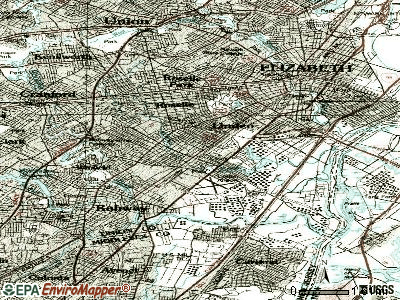 Linden topographic map