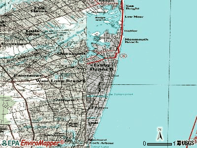 Long Branch topographic map