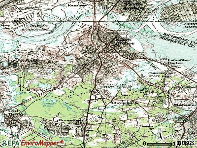 Lyndhurst topographic map