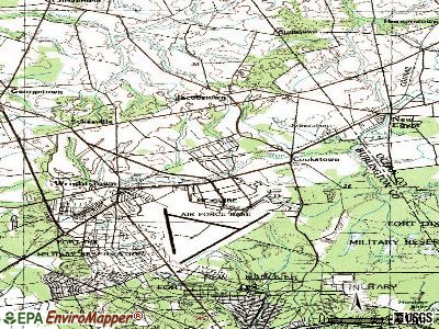 McGuire AFB topographic map