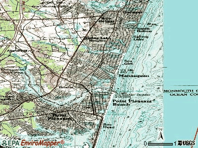 Manasquan topographic map