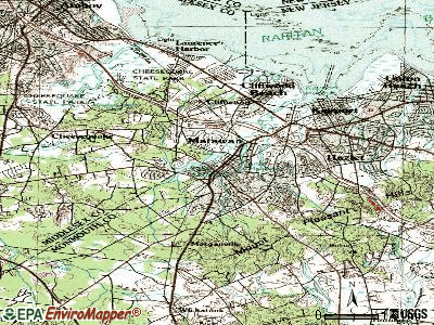 Marlton topographic map