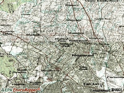 Mercerville-Hamilton Square topographic map