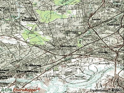 Metuchen topographic map